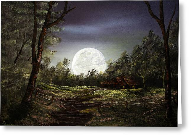 Moonlight  Greeting Card by Jamil Alkhoury