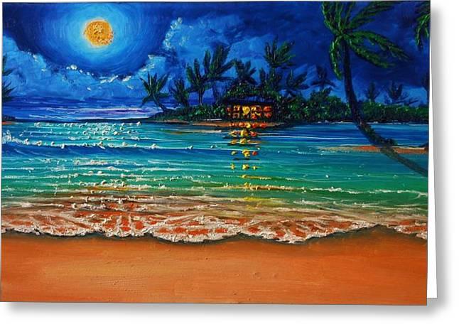 Moonlight Lagoon Greeting Card