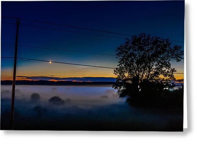 Moonlight Mist Greeting Card by Randy Scherkenbach