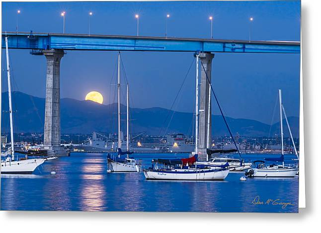 Moonlight Mooring Greeting Card
