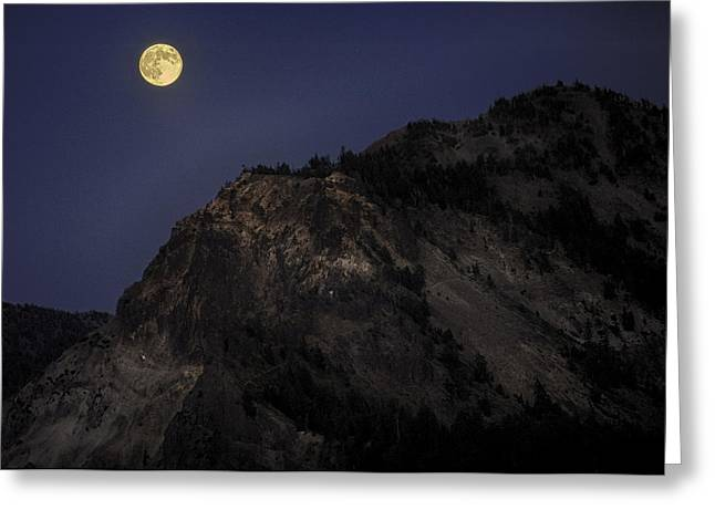 Moonlight On The Crater Rim Greeting Card