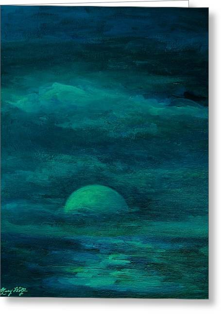 Moonlight On The Water Greeting Card