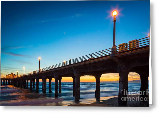 Moonlight Pier Greeting Card