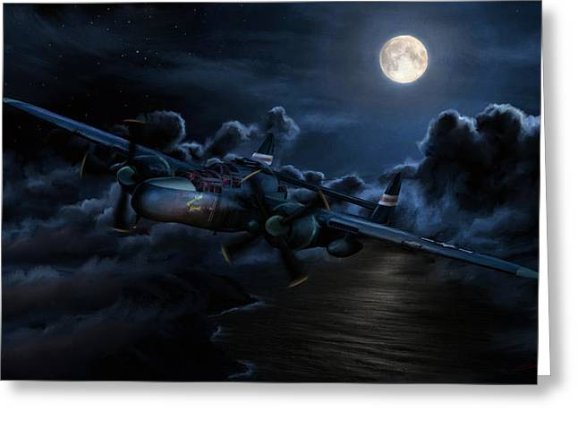 Moonlight Serenade Greeting Card by Dale Jackson