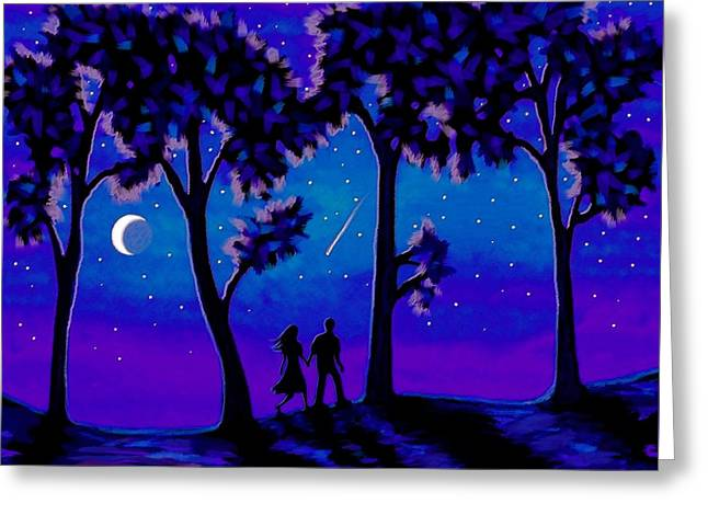 Moonlight Walk Greeting Card