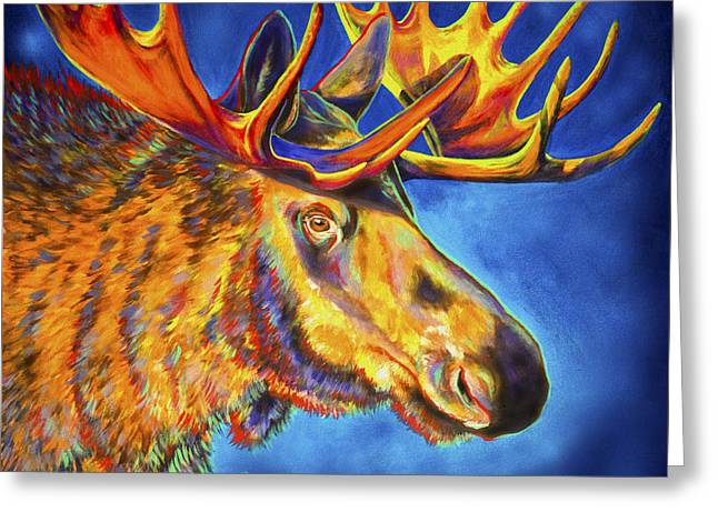 Moose Blues Greeting Card by Teshia Art
