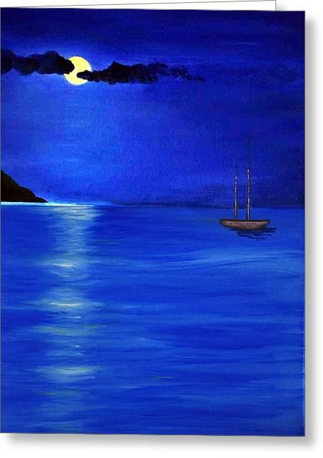 Moonligth Greeting Card by Kostas Koutsoukanidis