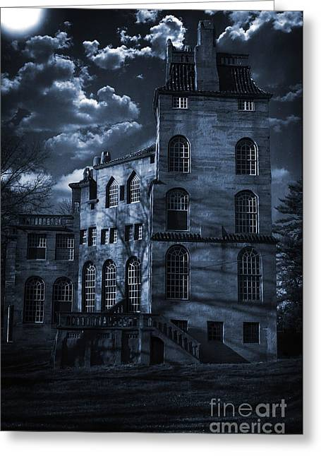 Moonlit Fonthill Greeting Card