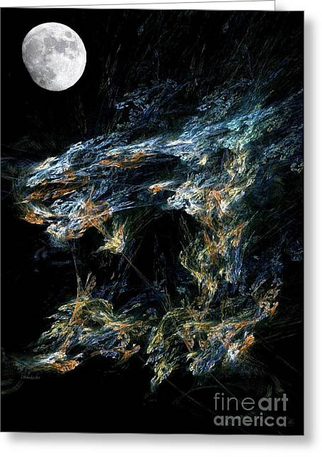 Moonlit Gold Nuggets Greeting Card by Madeline  Allen - SmudgeArt
