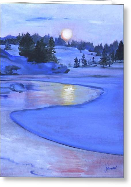 Moonlit Greeting Card by Jane Autry
