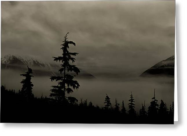 Moonlit Mist Greeting Card by Lisa Hufnagel