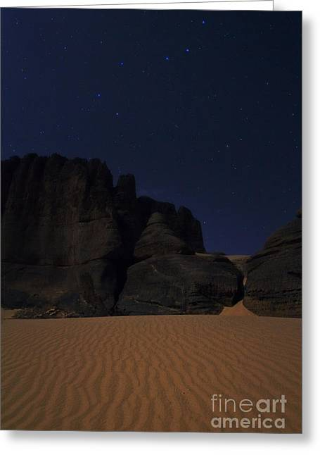 Moonlit Night Of Sahara Greeting Card