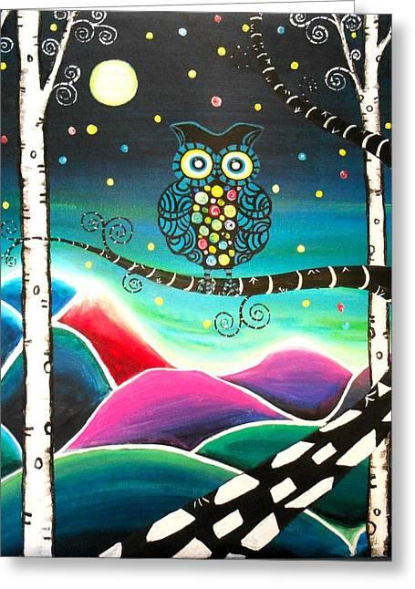 Moonlit View Greeting Card