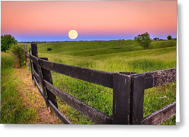 Moonrise Greeting Card by Alexey Stiop
