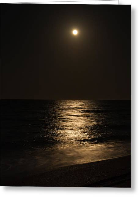 Moon Over Water Greeting Card