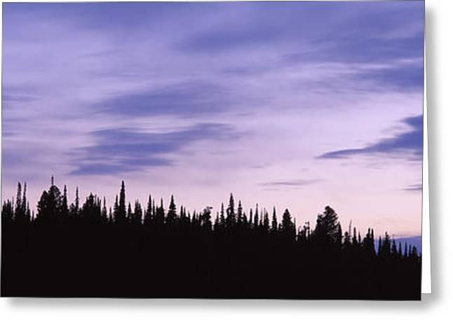 Moonrise Mt Moran Grand Teton National Greeting Card by Panoramic Images