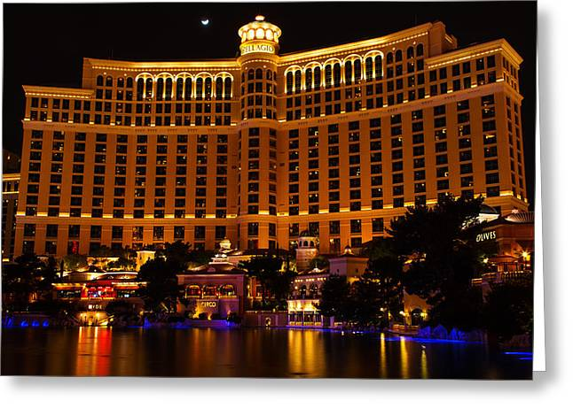 Moonrise Over Bellagio Greeting Card by James Marvin Phelps