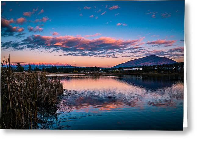 Greeting Card featuring the photograph Moonrise Over Elizabeth Lake by Rob Tullis