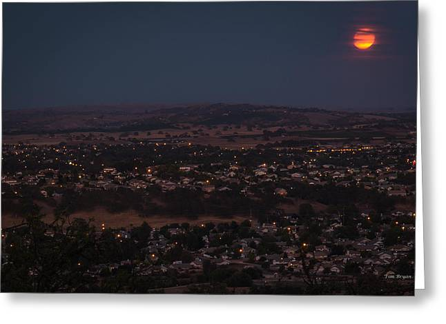 Moonrise Over Paso Greeting Card