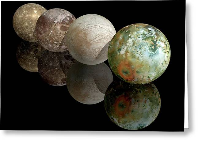Moons Of Jupiter Greeting Card