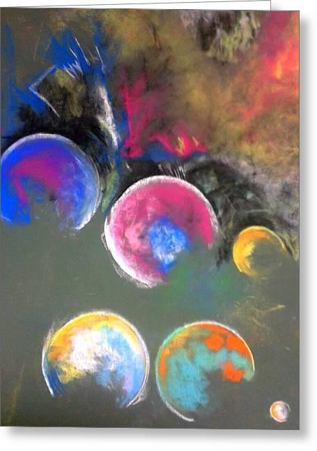 Moons Of Jupiter Greeting Card by Thomas Petrizzo