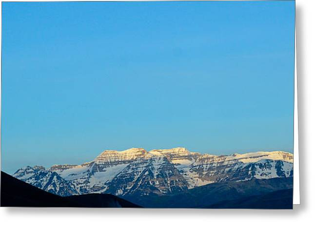 Moonset Over Timpanogos Greeting Card