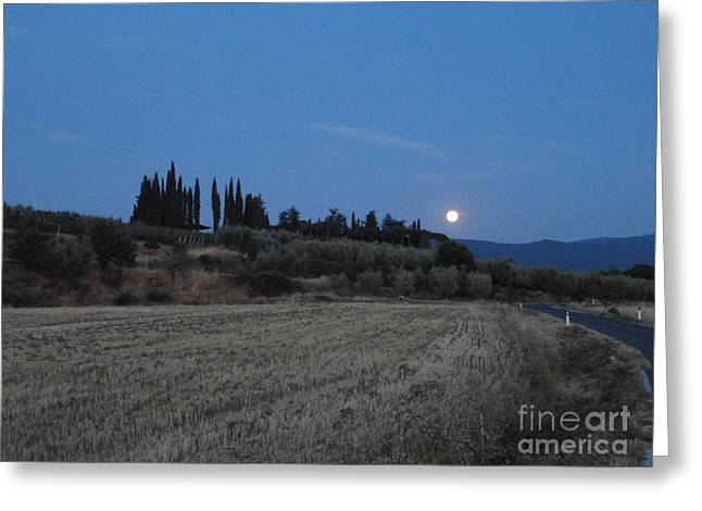 Moonshine In Arezzo Greeting Card