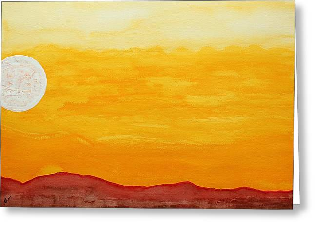 Moonshine Original Painting Sold Greeting Card