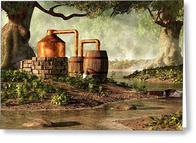 Moonshine Still 1 Greeting Card by Daniel Eskridge