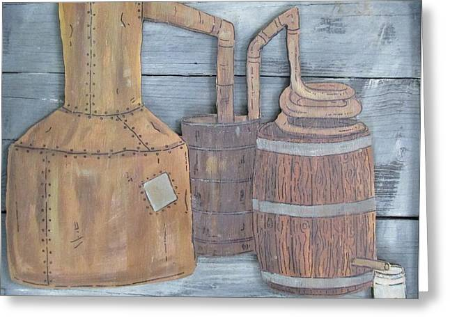 Moonshine Still Greeting Card by Eric Cunningham