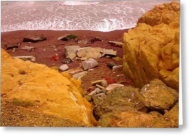 Moonstone Beach Greeting Card by Sharon Costa