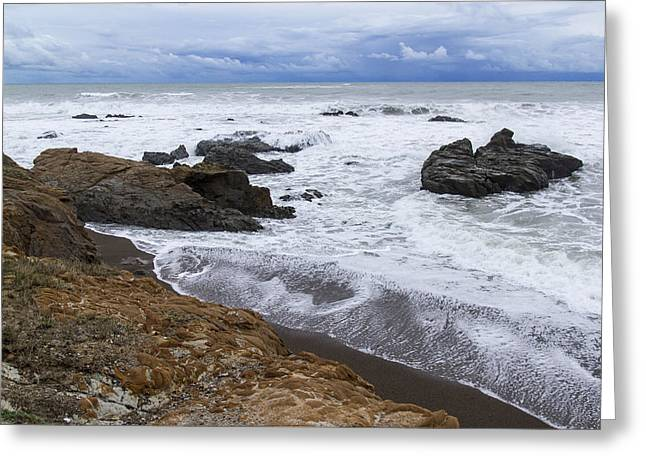Moonstone Beach Surf 3 Greeting Card