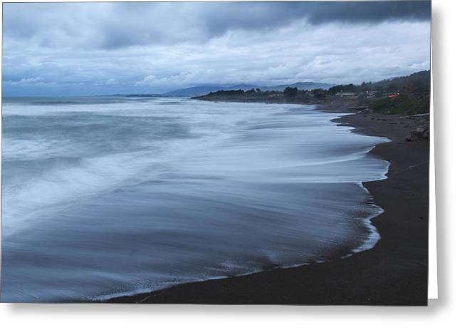 Moonstone Beach Surf 2 Greeting Card