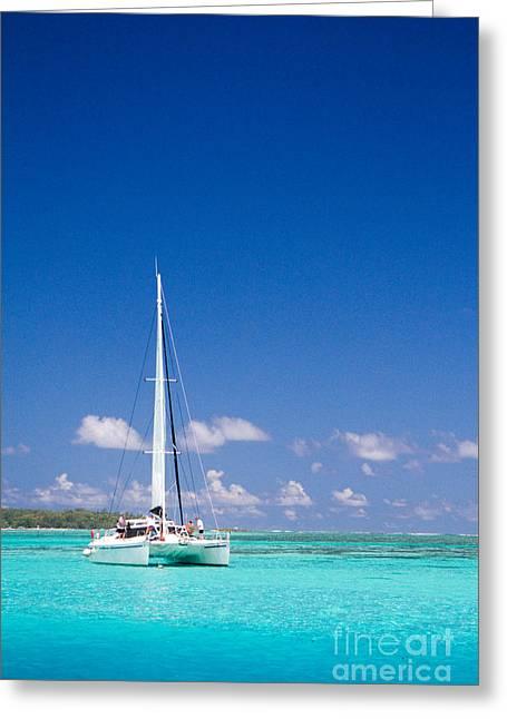 Moorea Lagoon No 4 Greeting Card by David Smith