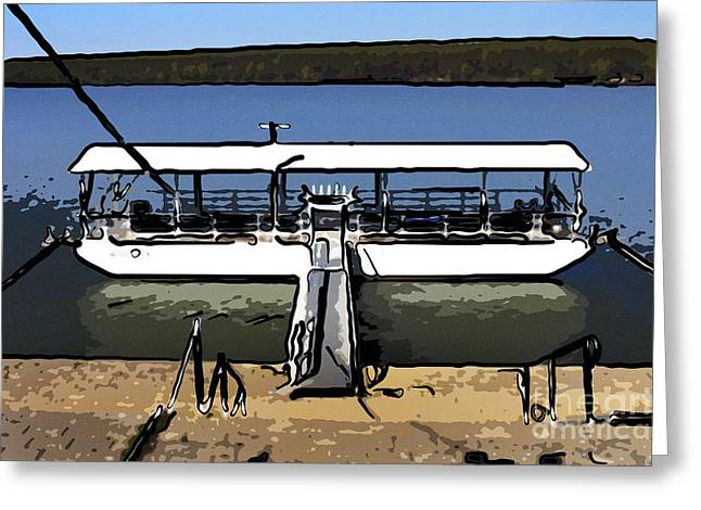 Moored Boat Greeting Card