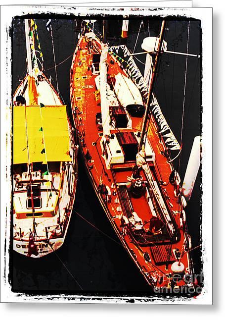 Moored Yachts Greeting Card