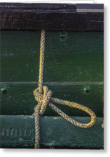 Greeting Card featuring the photograph Mooring Hitch by Marty Saccone