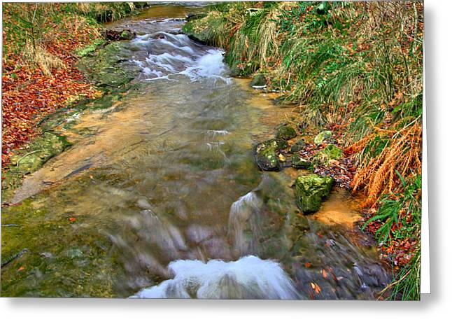 Moorland Stream Greeting Card