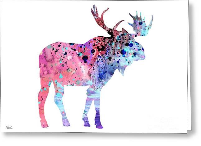 Moose 2 Greeting Card by Luke and Slavi