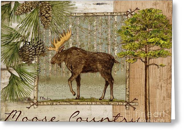 Moose Country Greeting Card by Paul Brent