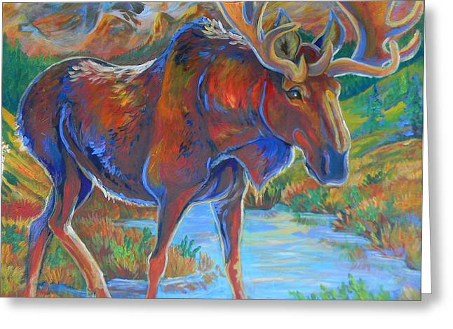 Moose Greeting Card by Jenn Cunningham