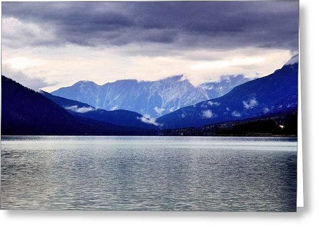 Moose Lake In The Mist Greeting Card