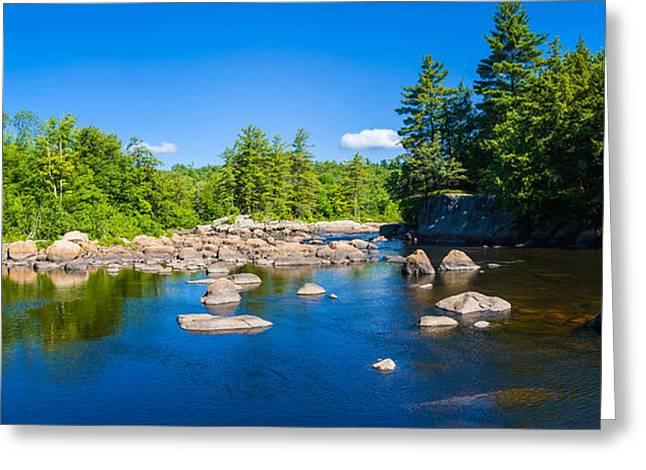 Moose River In The Adirondack Greeting Card