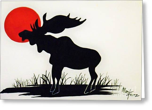 Moose Stands Tall Greeting Card