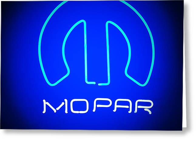 Mopar Neon Sign Greeting Card