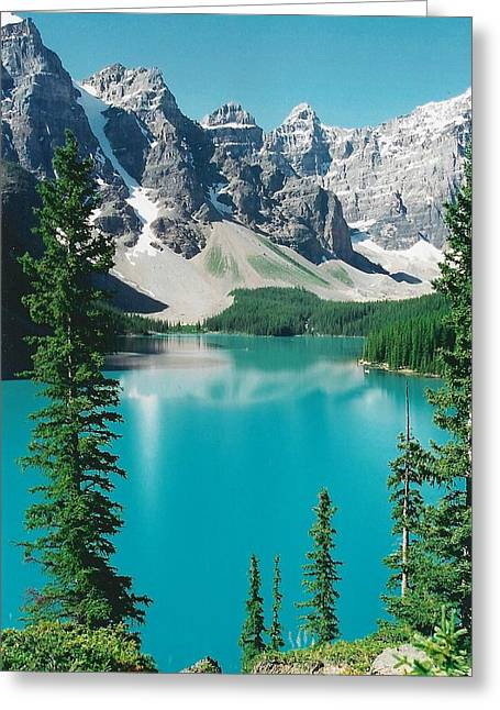 Moraine Lake 4 Greeting Card by Shirley Sirois
