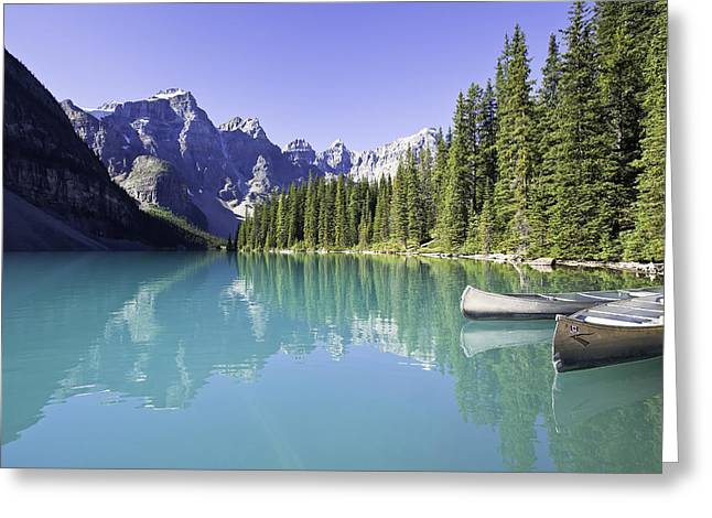 Moraine Lake And Valley Of The Ten Greeting Card by Ken Gillespie