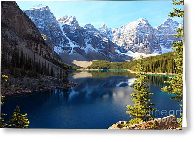 Moraine Lake Banff Alberta Greeting Card