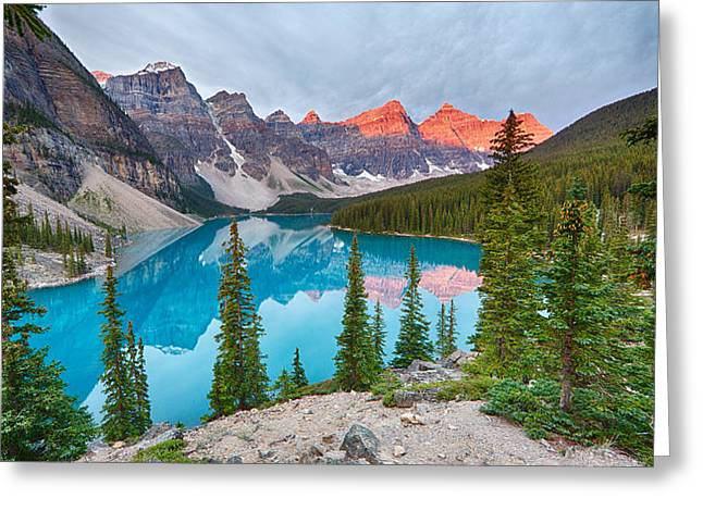 Moraine Lake Banff National Park Greeting Card