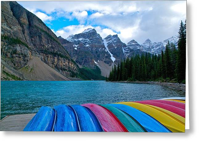 Moraine Lake Calling Greeting Card